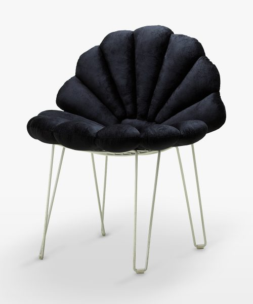 shell cushion black