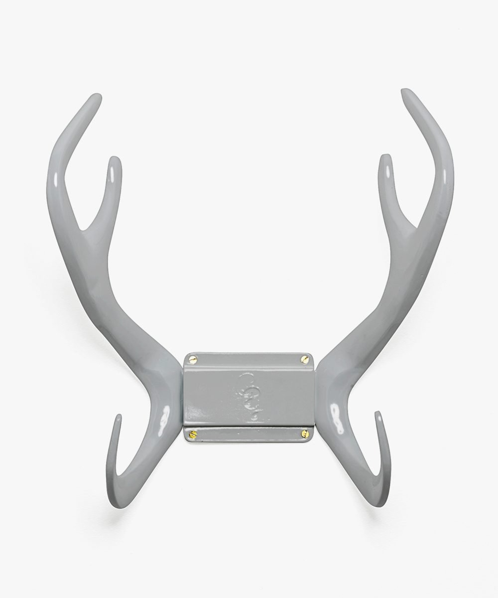 Grey wallmount reindeer