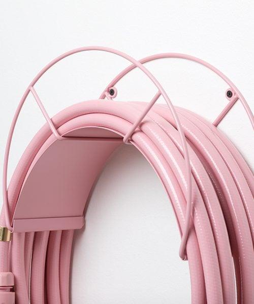 pink hose holder