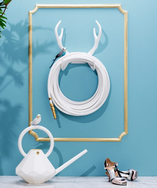 reindeer wall mount white