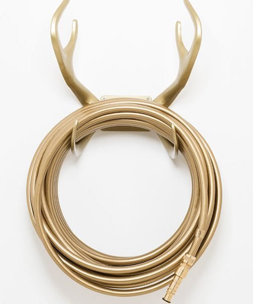 reindeer wall mount gold