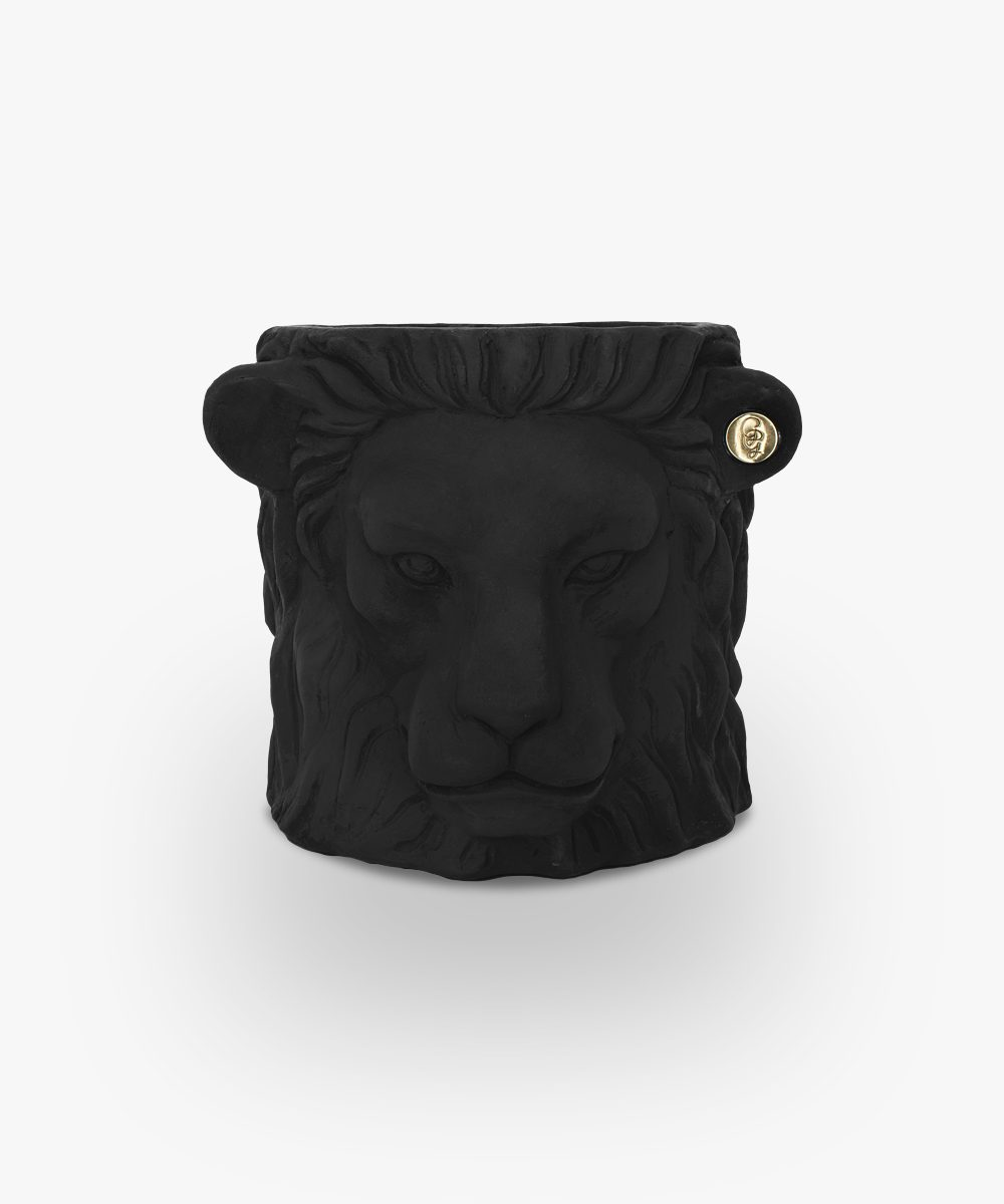 lion pot black small