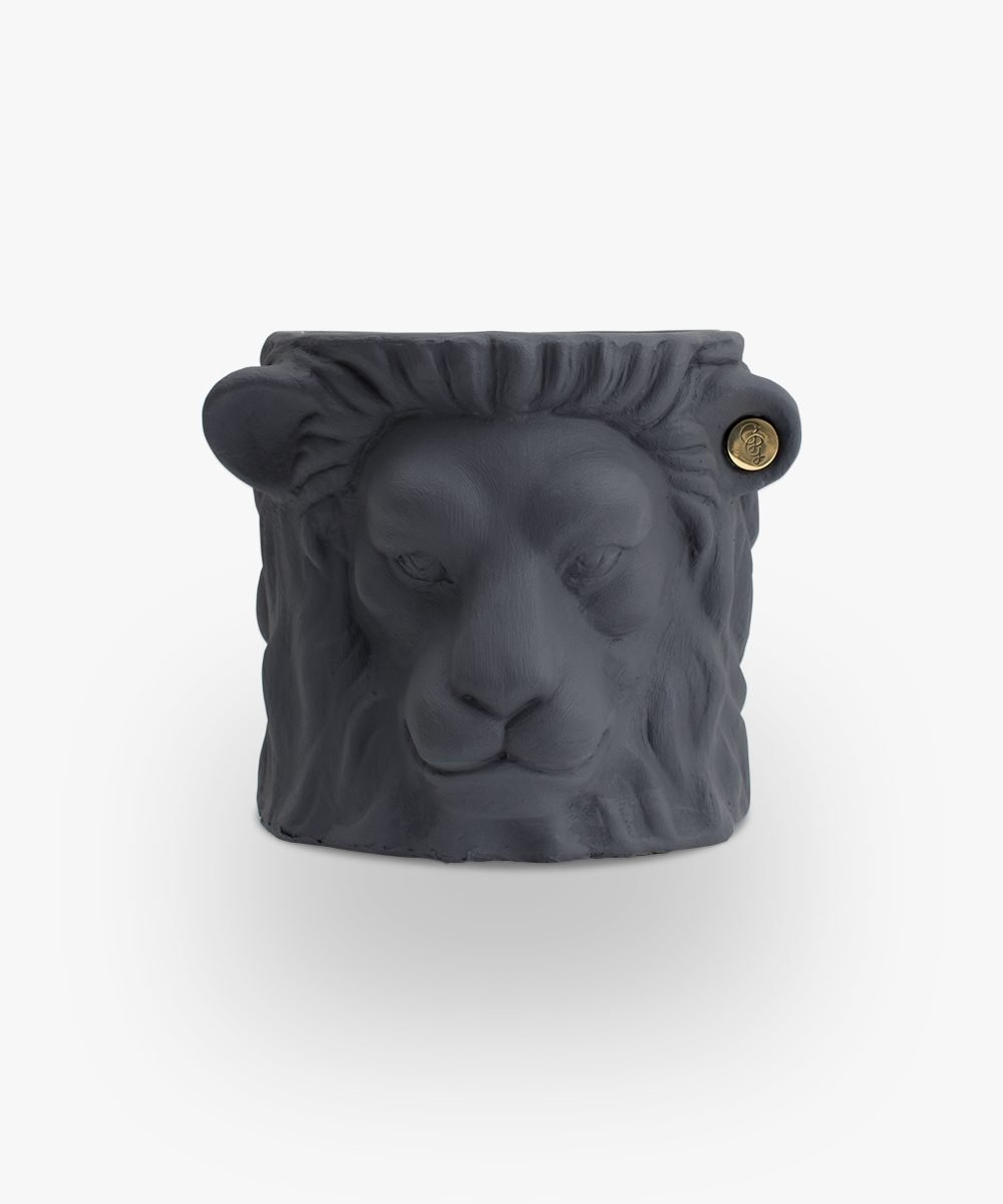 lion pot grey small