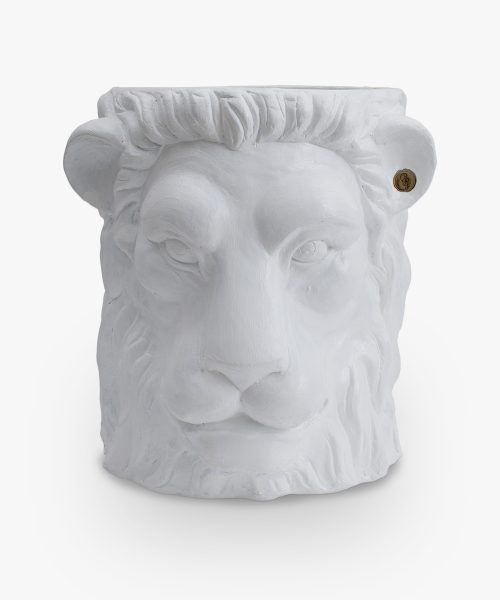 lion pot white small