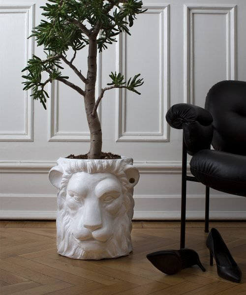 Lion Pot White Big
