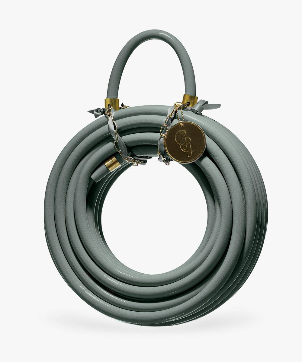 eucalyptus green colored garden hose