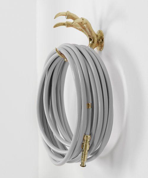 grey hose gold hose stand