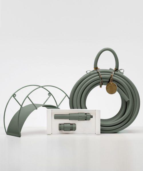Green eucalyptus garden hose