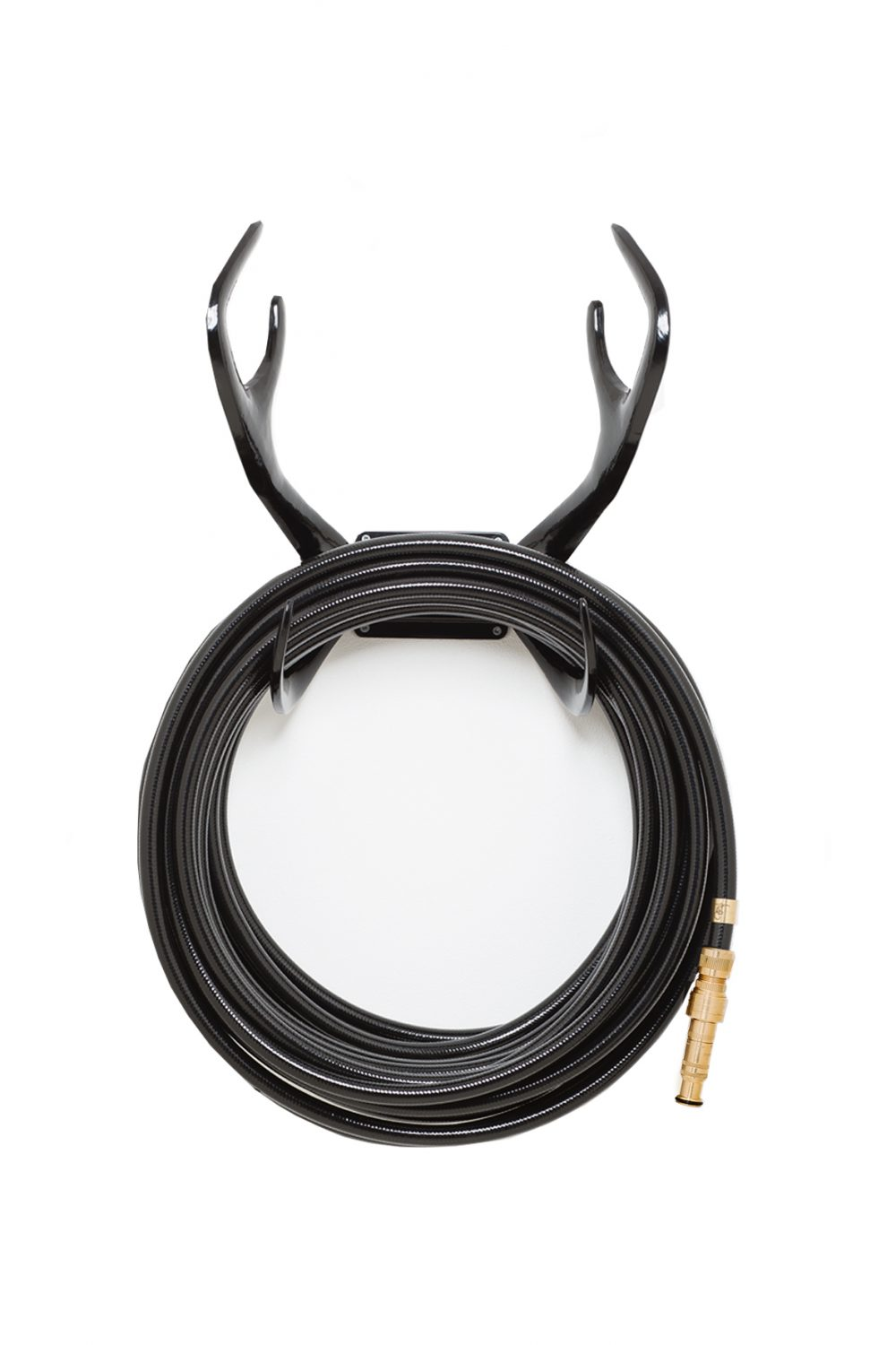 black garden hose antler hose holder