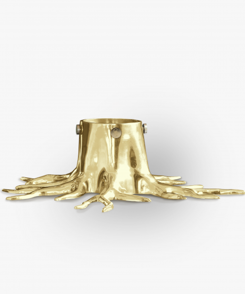 christmas tree stand gold brass