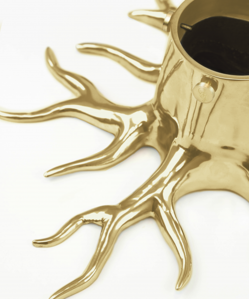 christmas tree stand gold