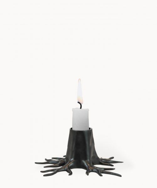 Candle holder mini root black