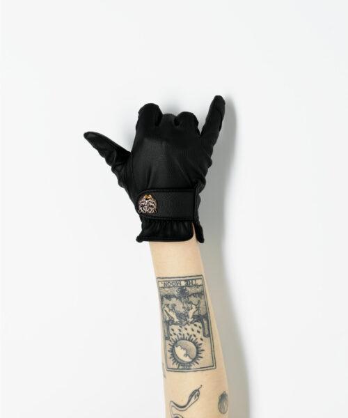 black gardening glove