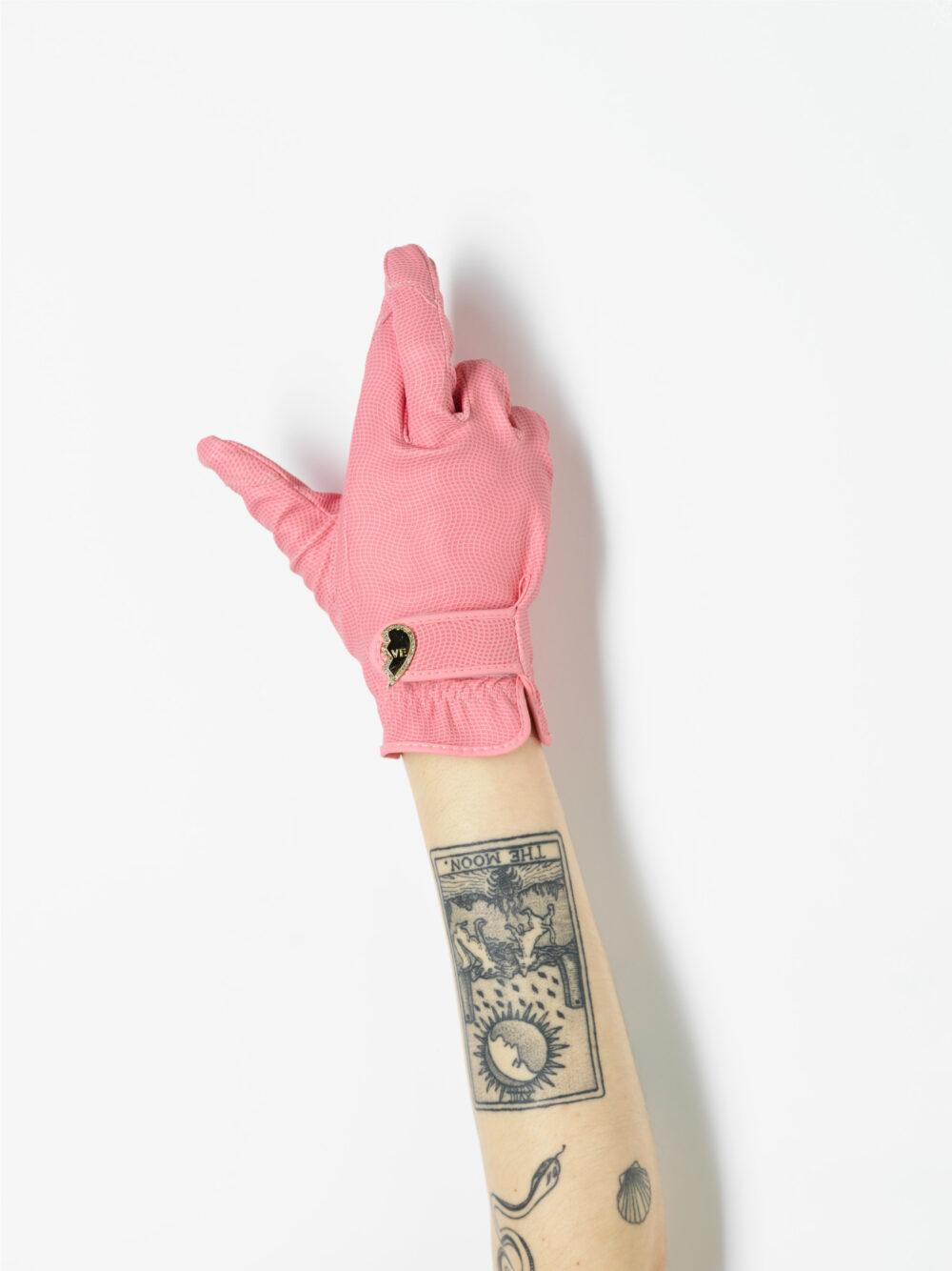 pink gardening glove